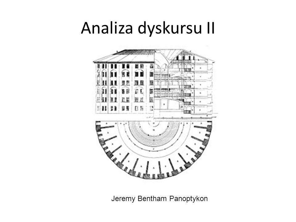 Analiza dyskursu II Jeremy Bentham Panoptykon