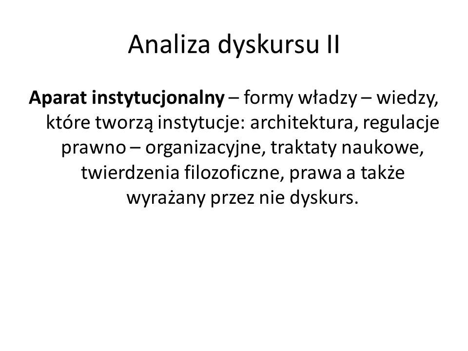 Analiza dyskursu II