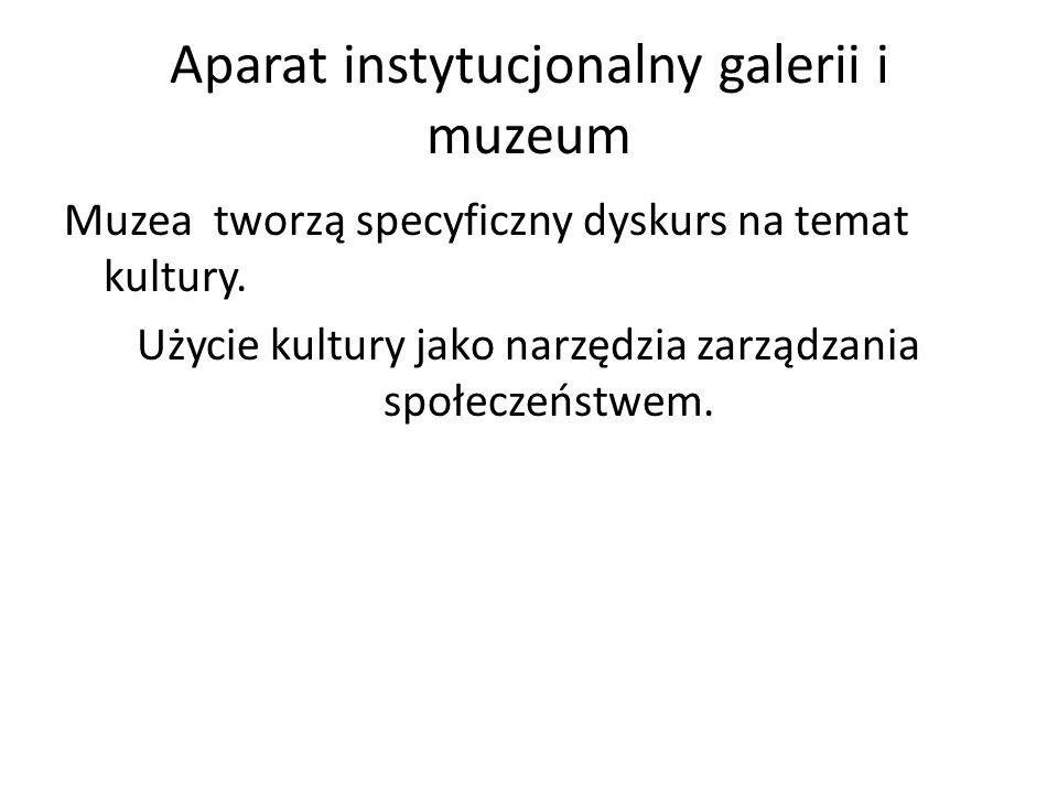 Aparat instytucjonalny galerii i muzeum