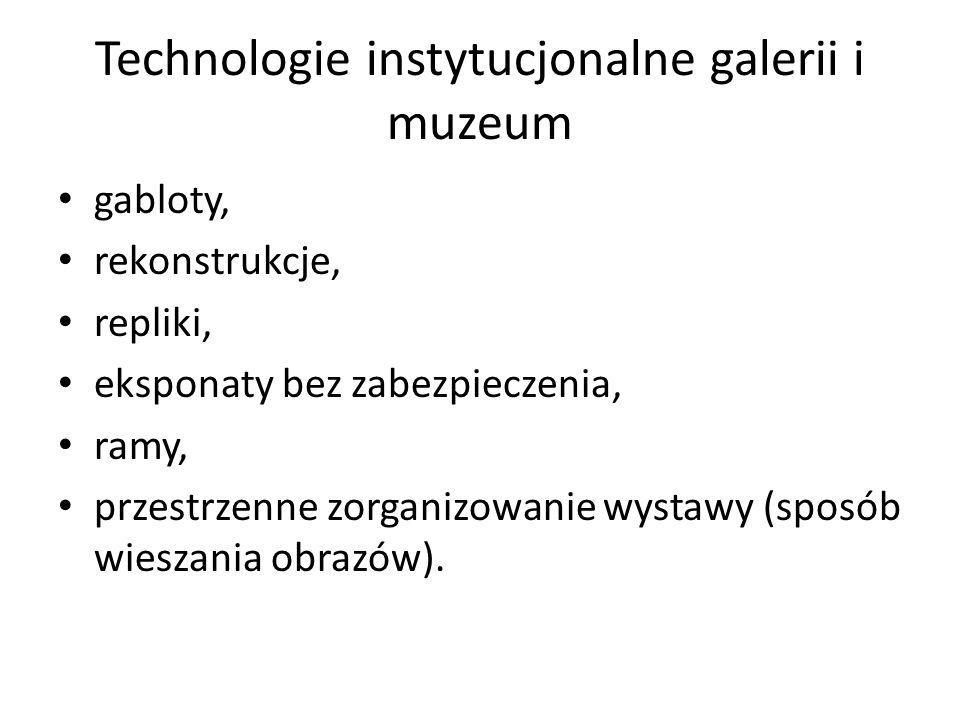 Technologie instytucjonalne galerii i muzeum