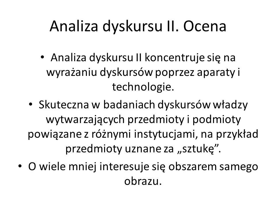 Analiza dyskursu II. Ocena