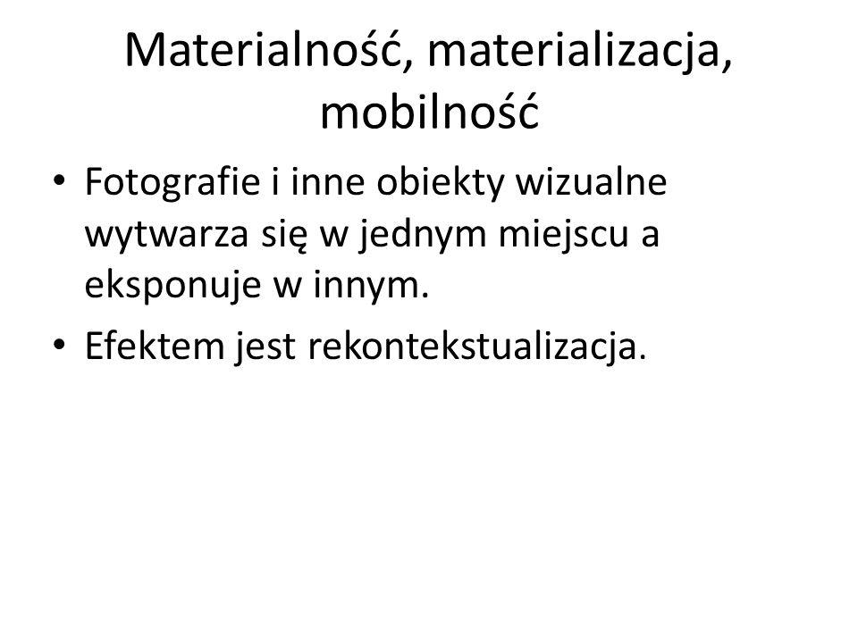 Materialność, materializacja, mobilność