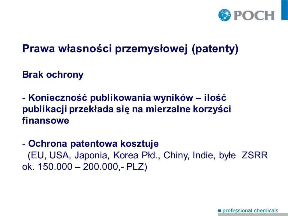 Prawa własności przemysłowej (patenty)