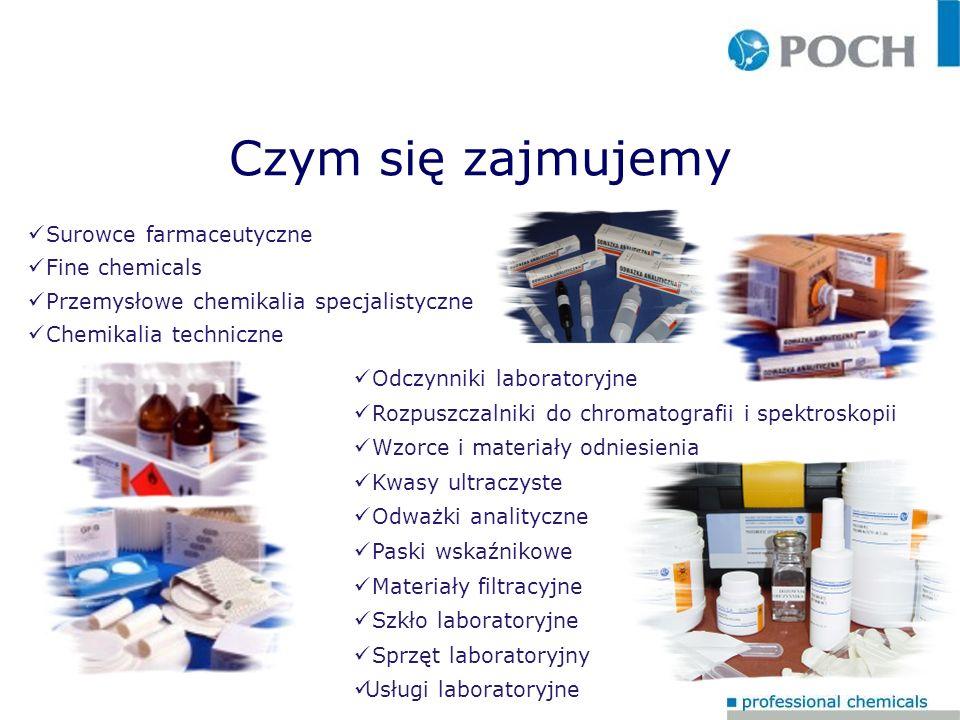 Czym się zajmujemy Surowce farmaceutyczne Fine chemicals