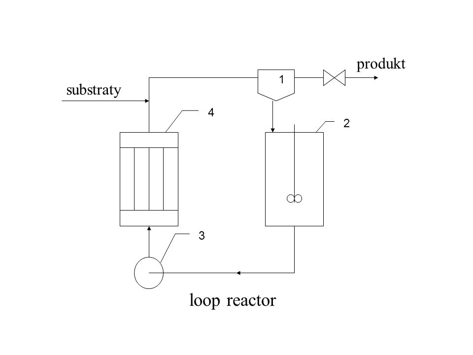 produkt 3 4 2 1 substraty loop reactor