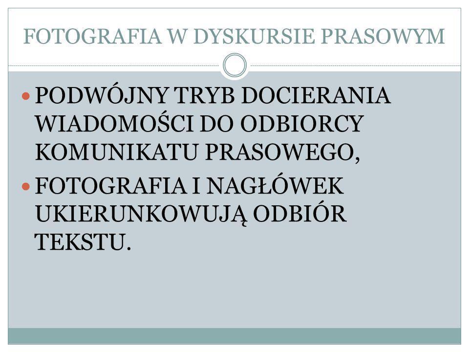 FOTOGRAFIA W DYSKURSIE PRASOWYM