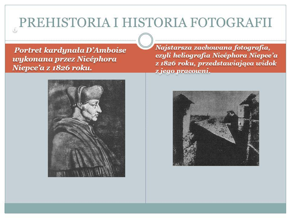 PREHISTORIA I HISTORIA FOTOGRAFII