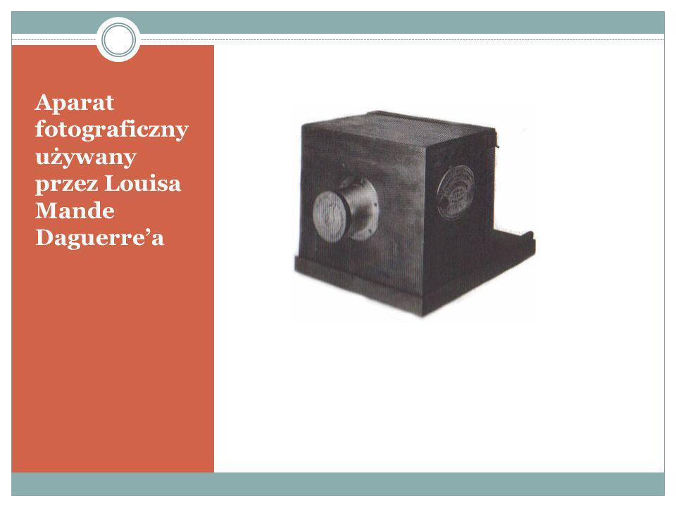Aparat fotograficzny używany przez Louisa Mande Daguerre'a