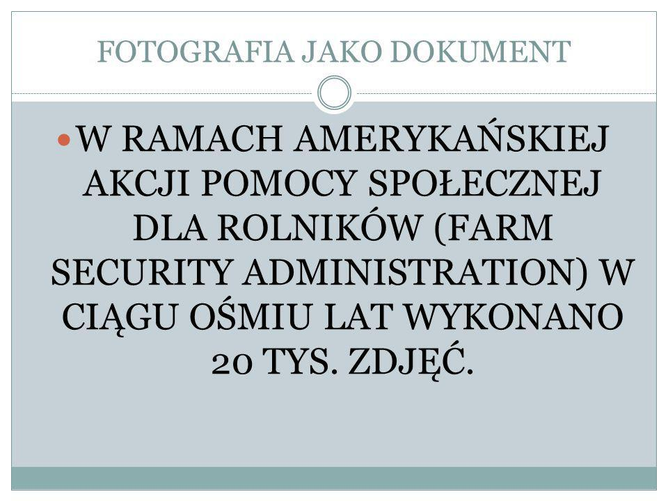 FOTOGRAFIA JAKO DOKUMENT