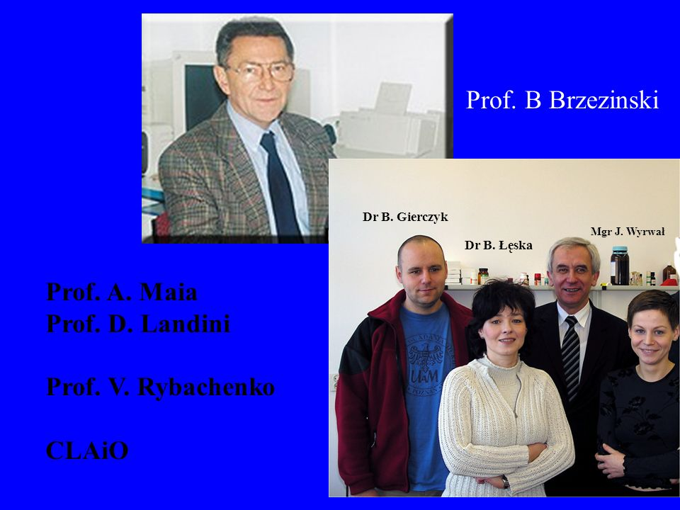Prof. B Brzezinski Prof. A. Maia Prof. D. Landini Prof. V. Rybachenko