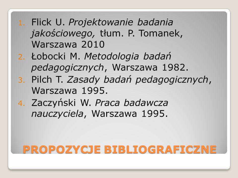 PROPOZYCJE BIBLIOGRAFICZNE