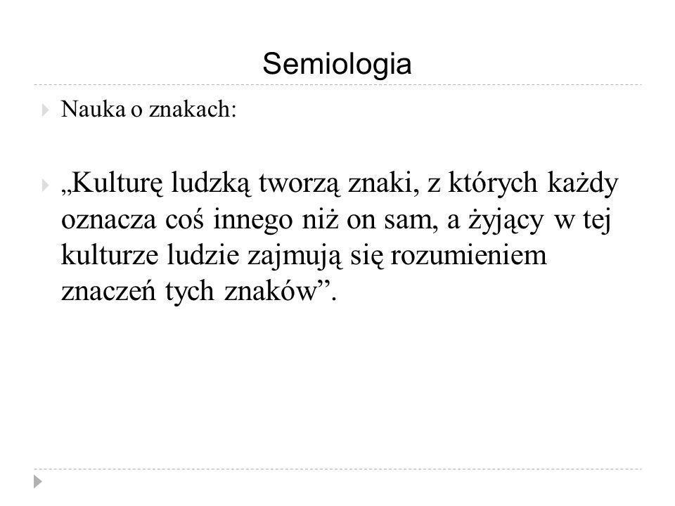 Semiologia Nauka o znakach: