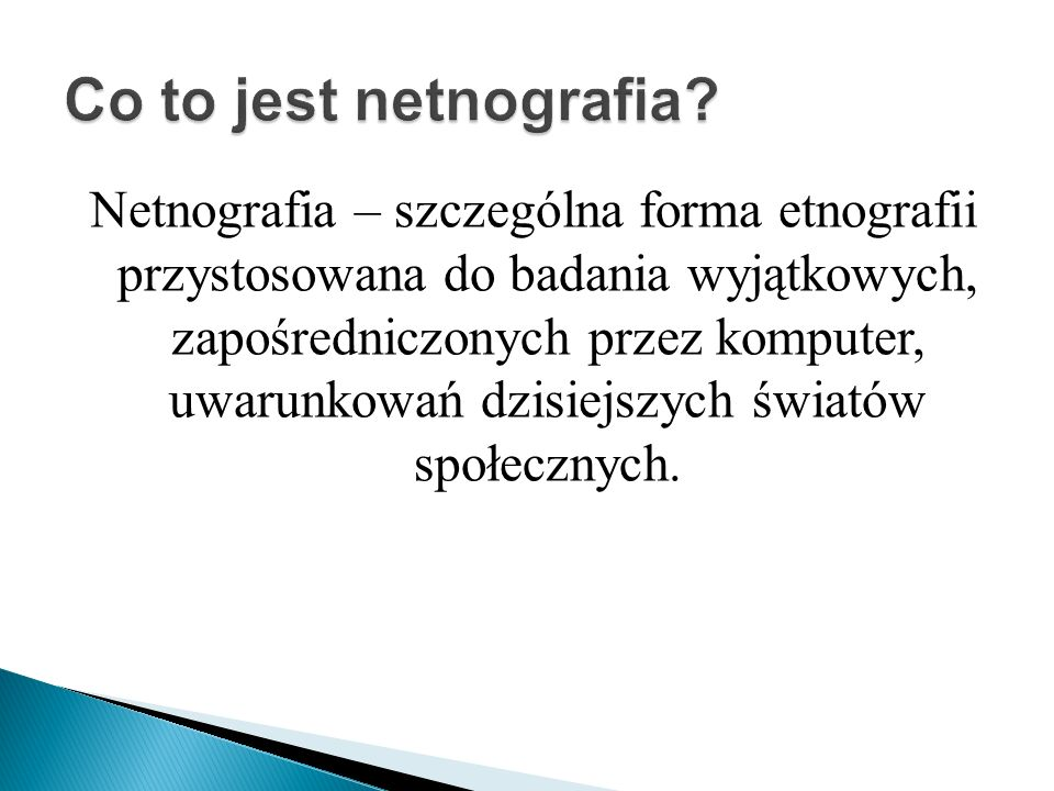 Co to jest netnografia