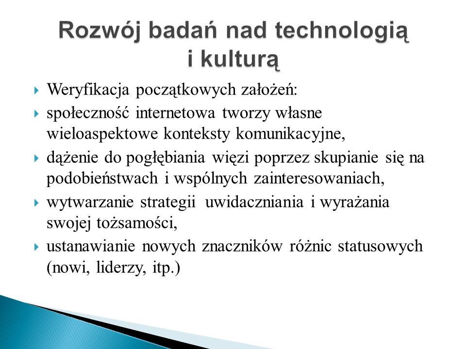 Rozwój badań nad technologią i kulturą