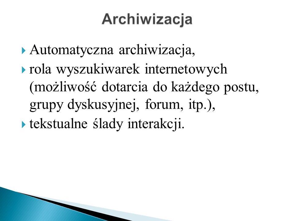 Archiwizacja Automatyczna archiwizacja,