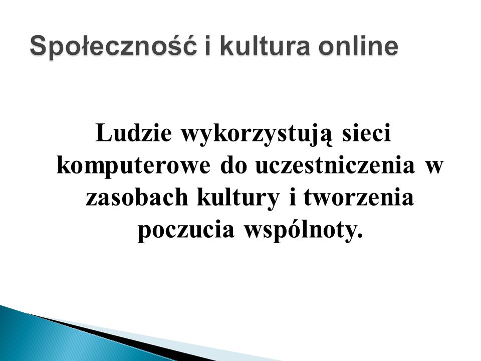 Społeczność i kultura online