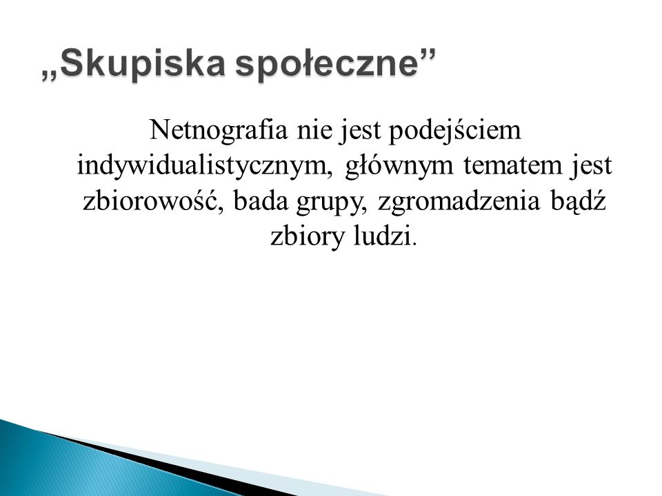 """Skupiska społeczne"