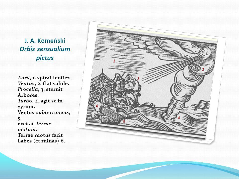 J. A. Komeński Orbis sensualium pictus