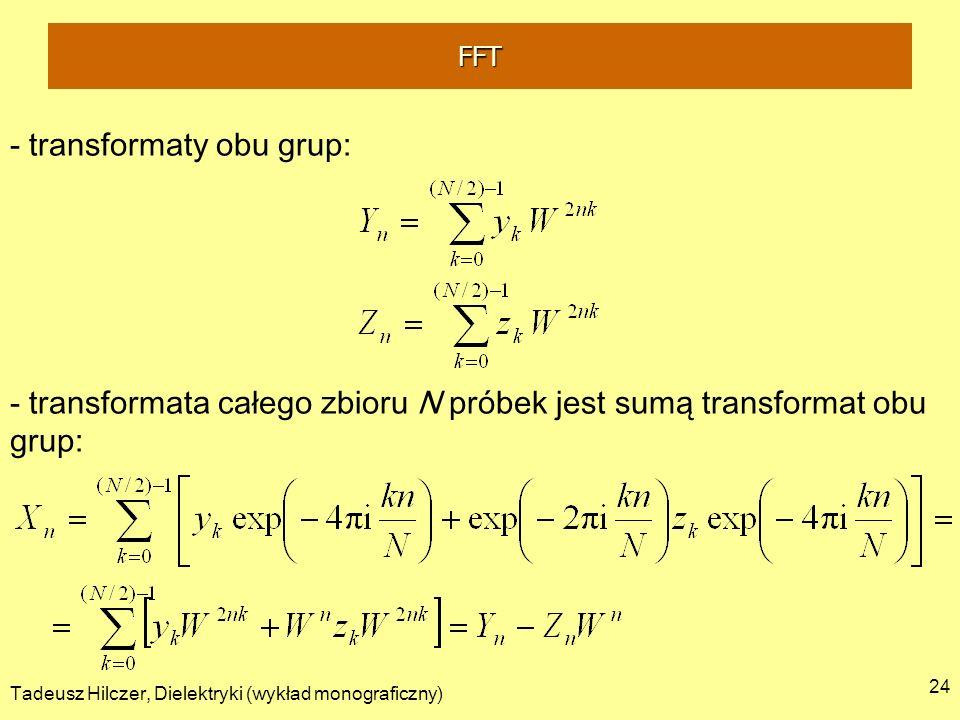 - transformaty obu grup: