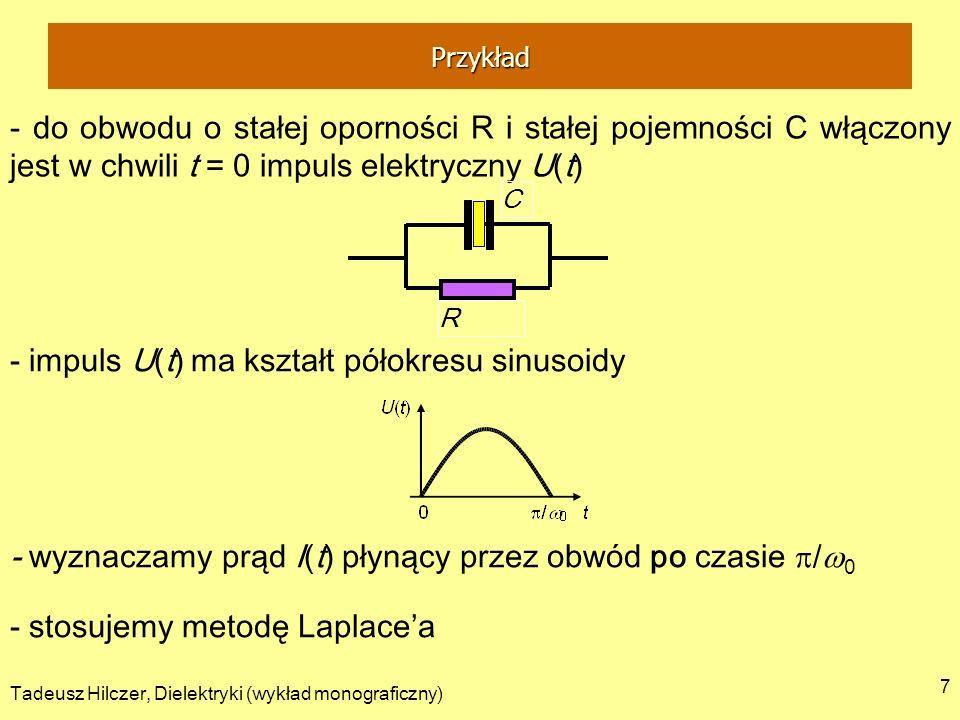 - impuls U(t) ma kształt półokresu sinusoidy