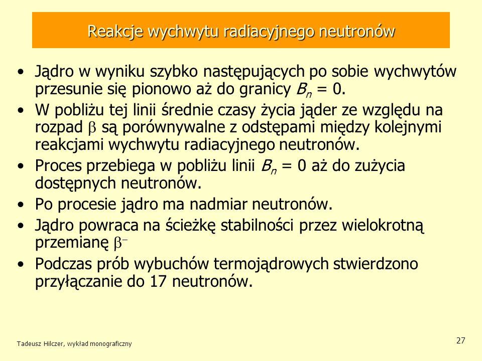 Reakcje wychwytu radiacyjnego neutronów