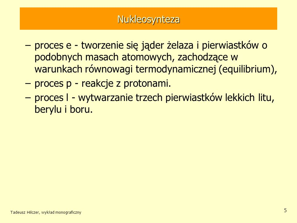 proces p - reakcje z protonami.