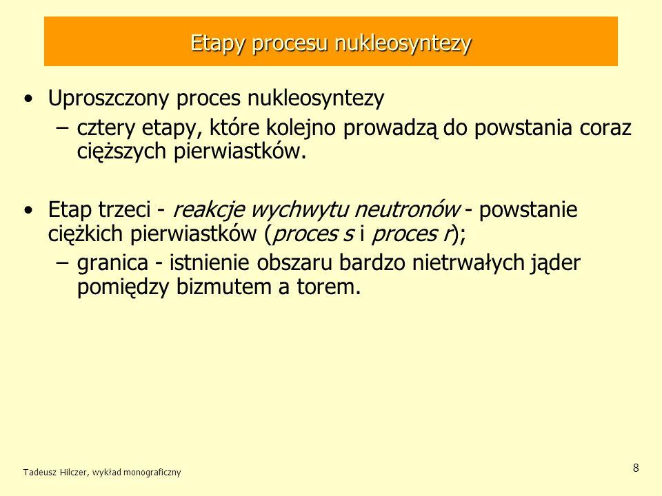 Etapy procesu nukleosyntezy