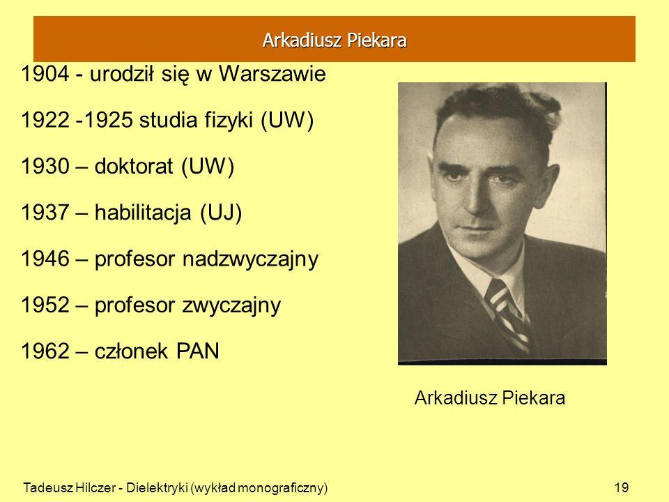 1904 - urodził się w Warszawie