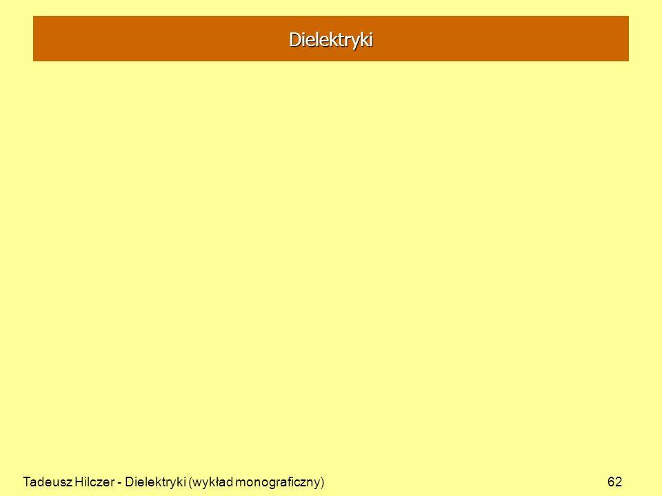 Dielektryki Tadeusz Hilczer - Dielektryki (wykład monograficzny)