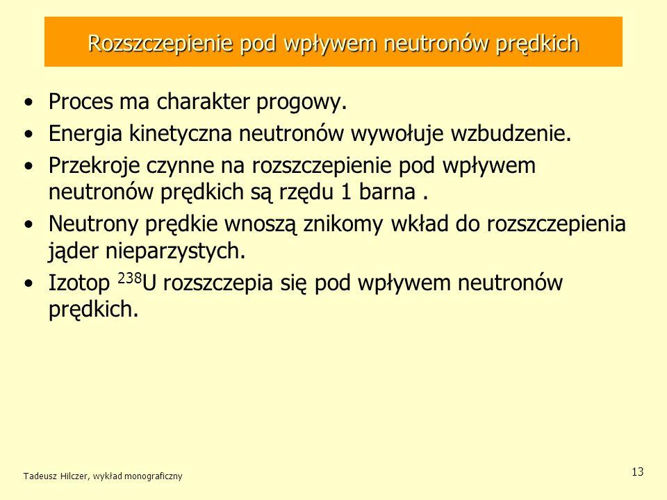 Rozszczepienie pod wpływem neutronów prędkich