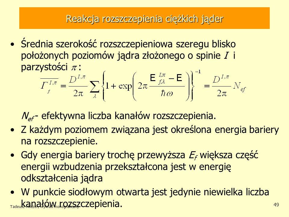 Reakcja rozszczepienia ciężkich jąder