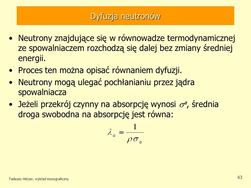 Proces ten można opisać równaniem dyfuzji.