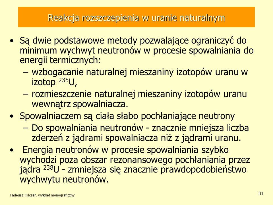 Reakcja rozszczepienia w uranie naturalnym