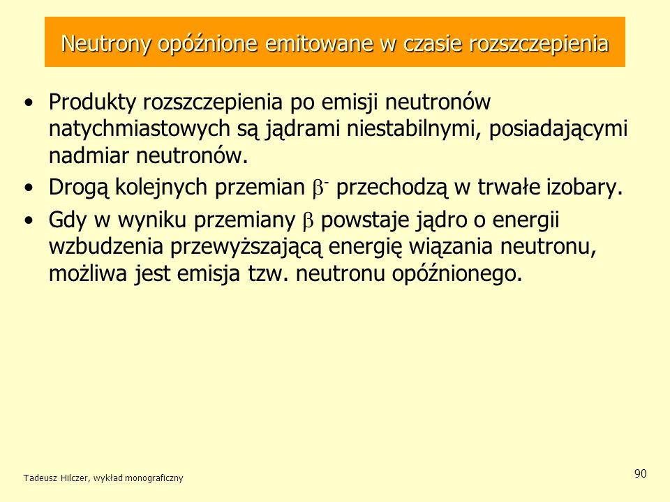 Neutrony opóźnione emitowane w czasie rozszczepienia