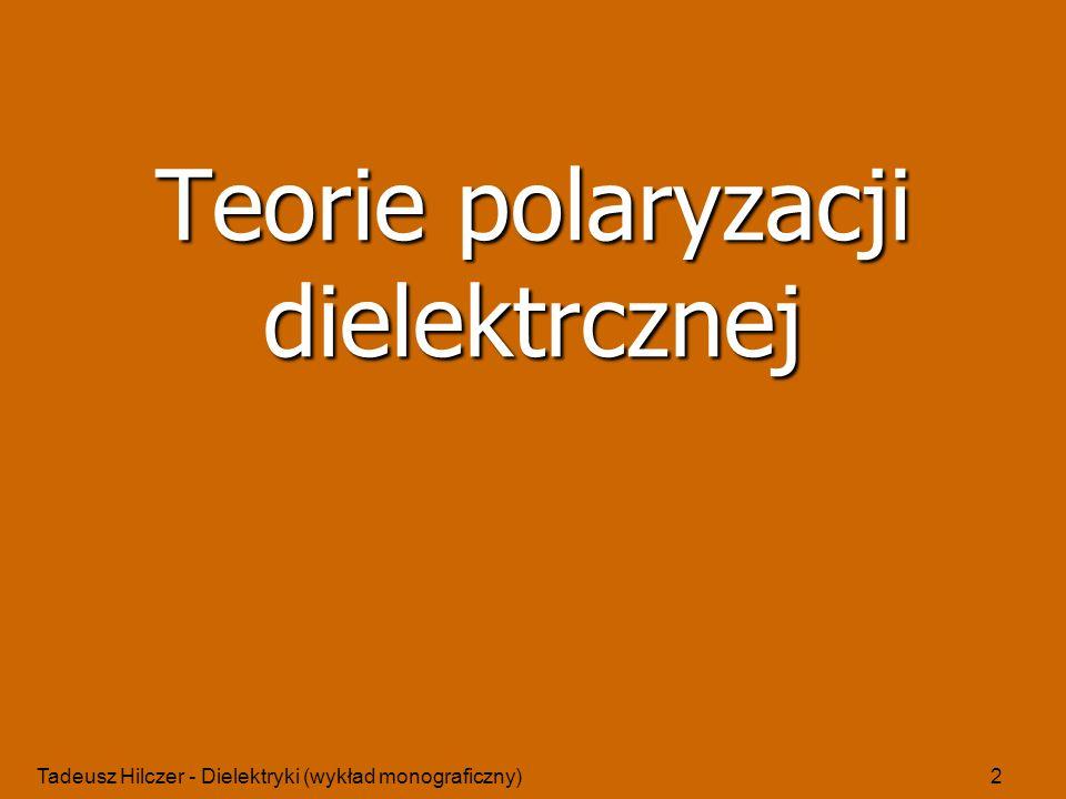 Teorie polaryzacji dielektrcznej