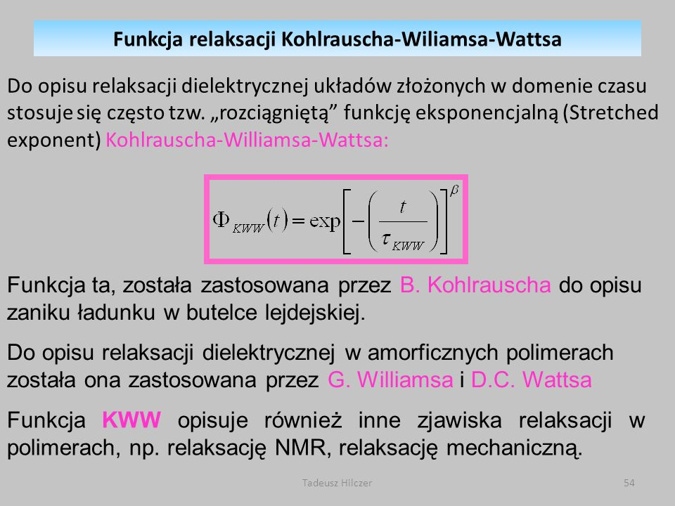 Funkcja relaksacji Kohlrauscha-Wiliamsa-Wattsa