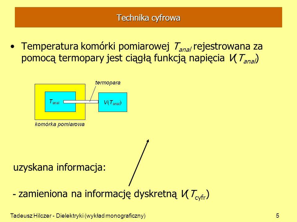- zamieniona na informację dyskretną V(Tcyfr)