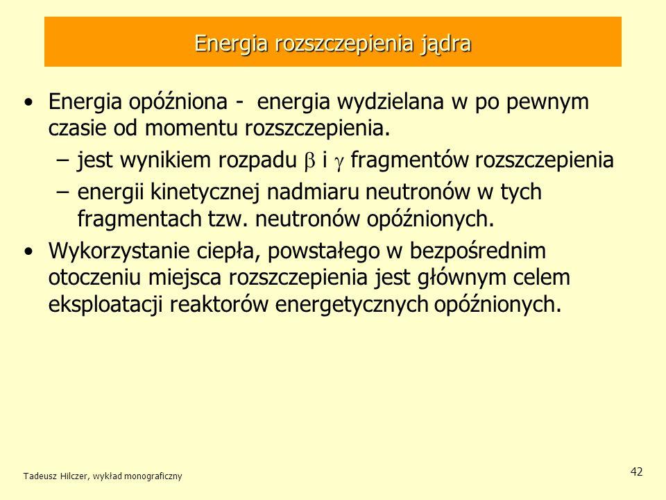 Energia rozszczepienia jądra