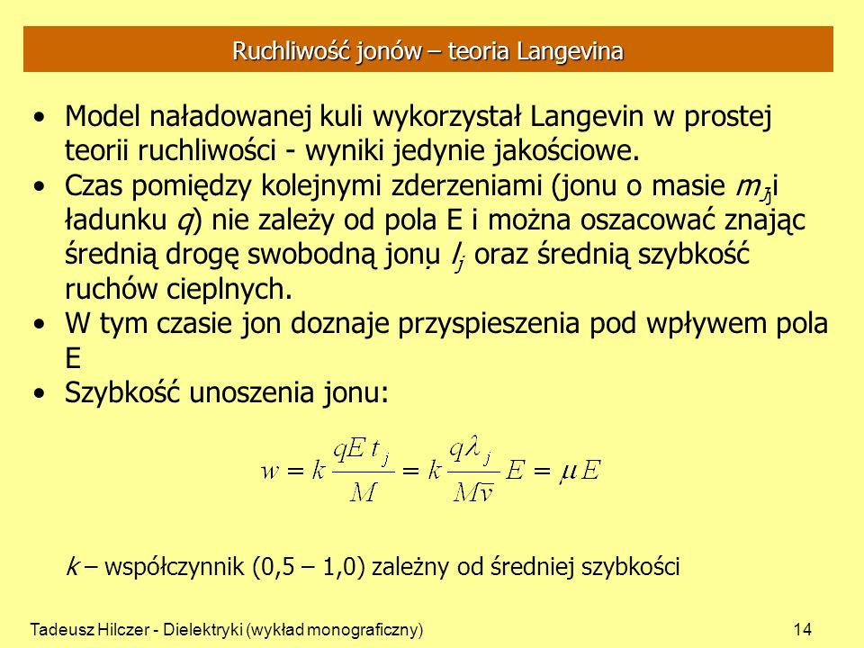 Ruchliwość jonów – teoria Langevina