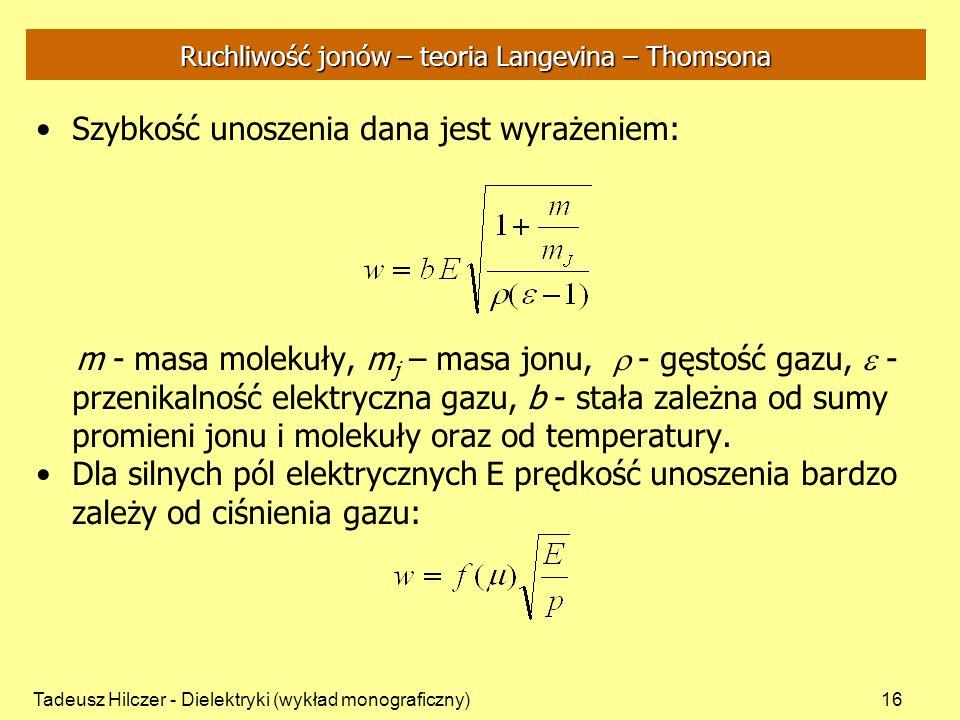 Ruchliwość jonów – teoria Langevina – Thomsona