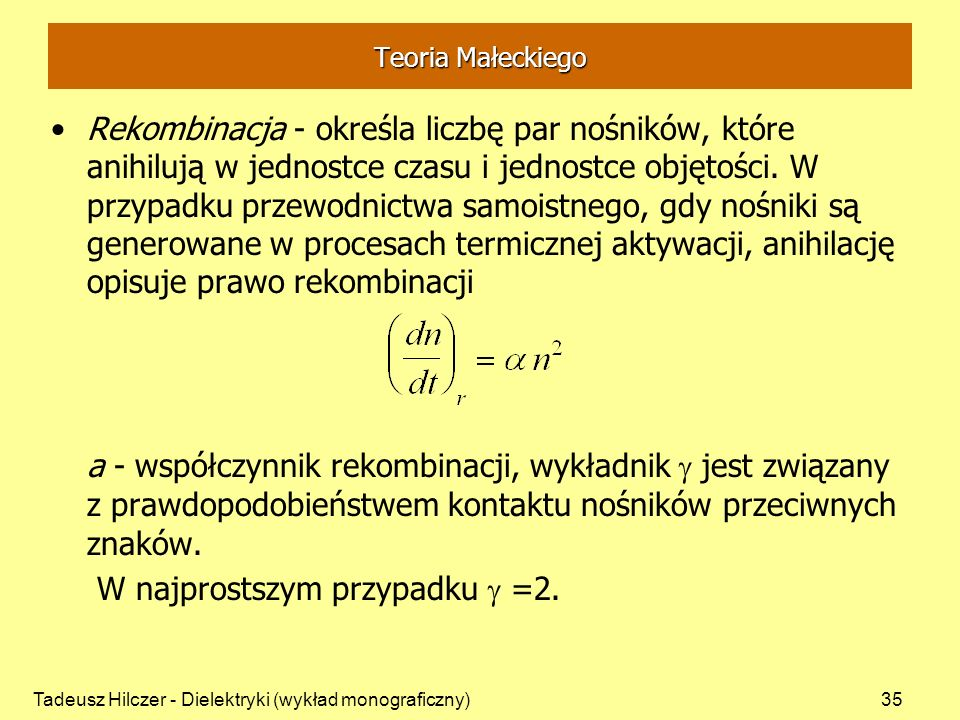 W najprostszym przypadku g =2.