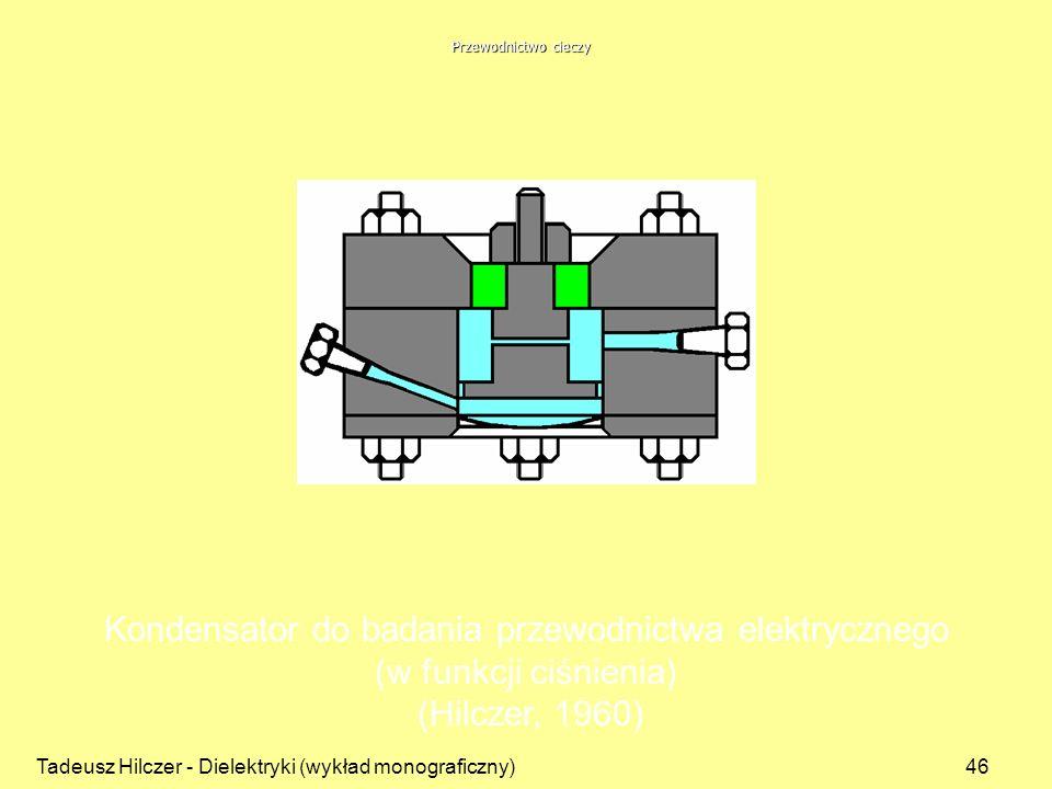 Kondensator do badania przewodnictwa elektrycznego
