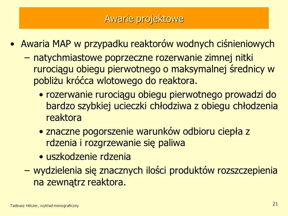 Awaria MAP w przypadku reaktorów wodnych ciśnieniowych