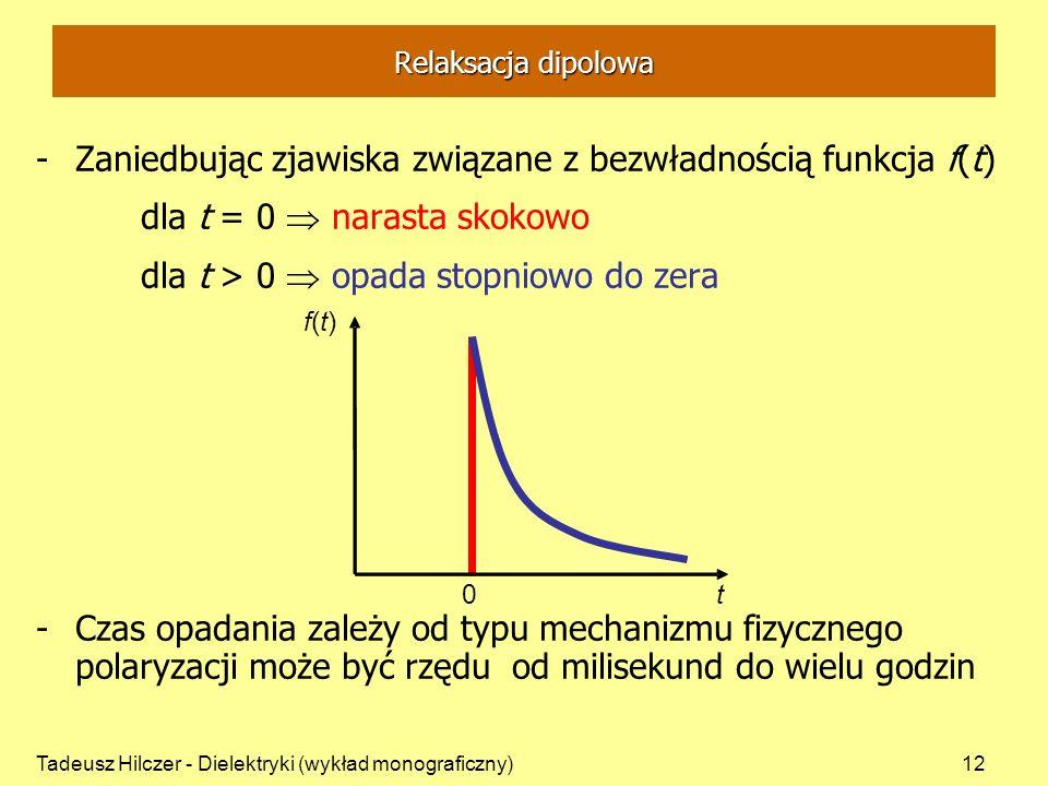 Zaniedbując zjawiska związane z bezwładnością funkcja f(t)