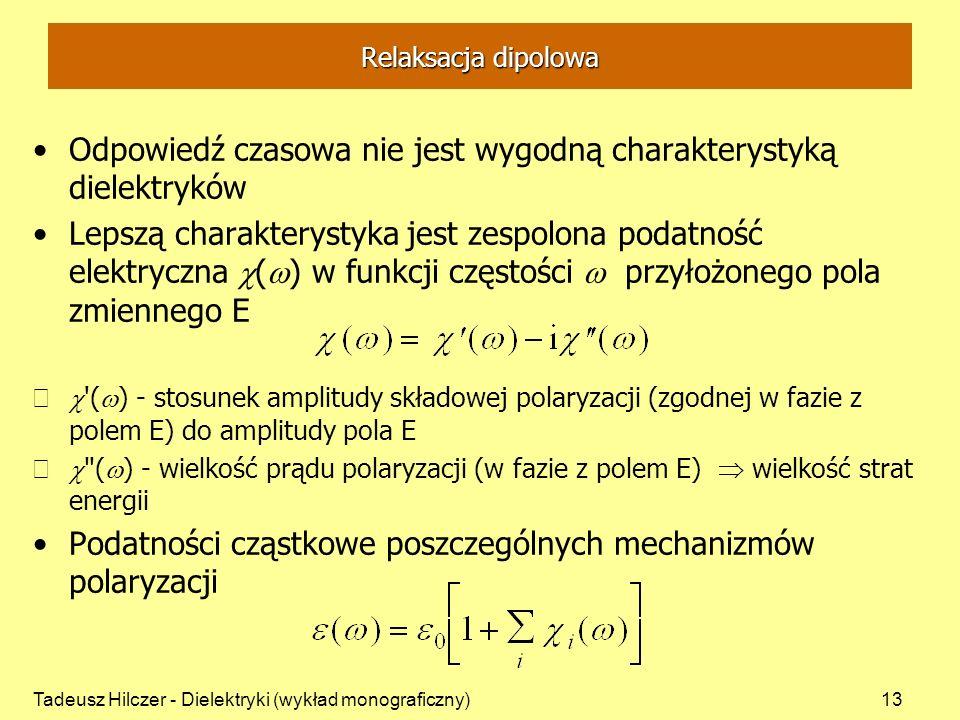 Odpowiedź czasowa nie jest wygodną charakterystyką dielektryków