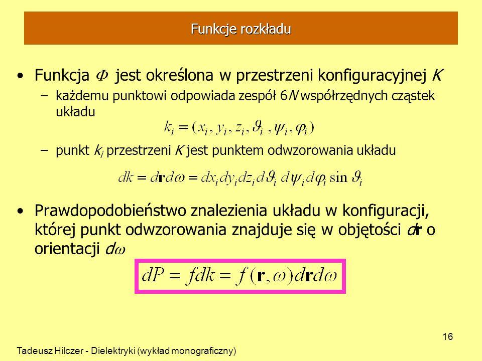 Funkcja F jest określona w przestrzeni konfiguracyjnej K