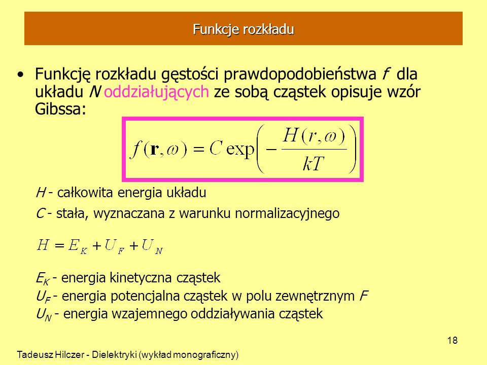 EK - energia kinetyczna cząstek