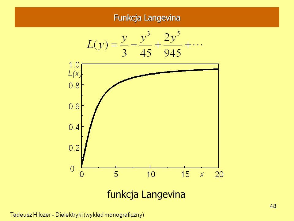 funkcja Langevina Funkcja Langevina