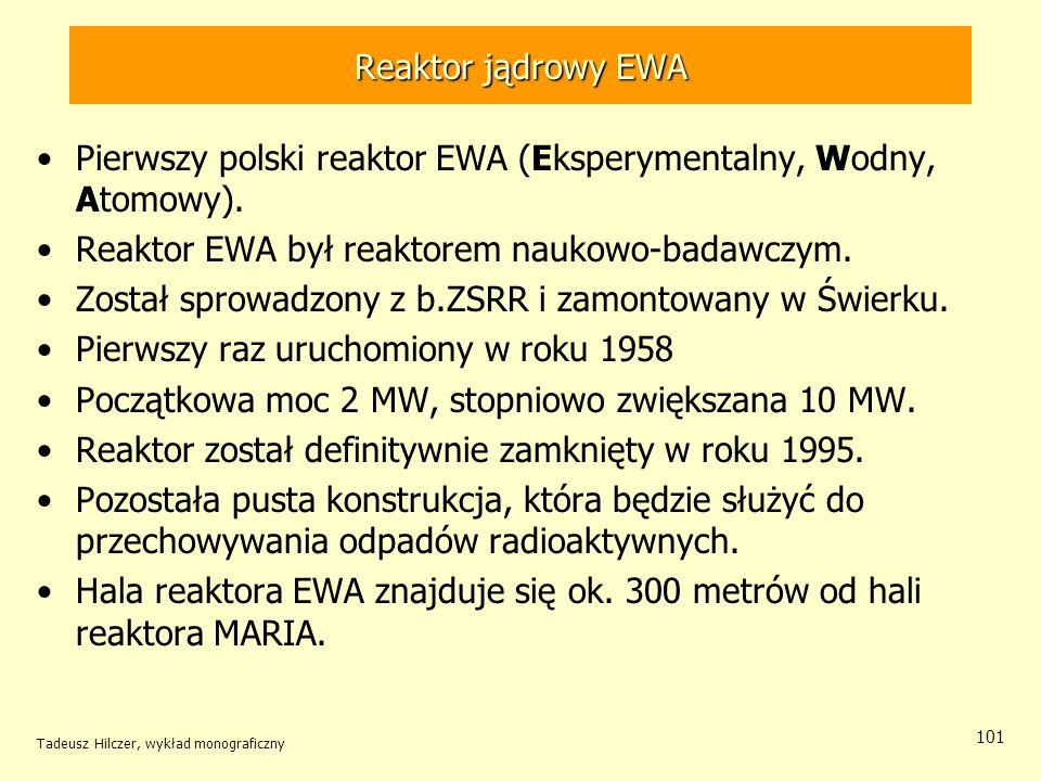 Pierwszy polski reaktor EWA (Eksperymentalny, Wodny, Atomowy).