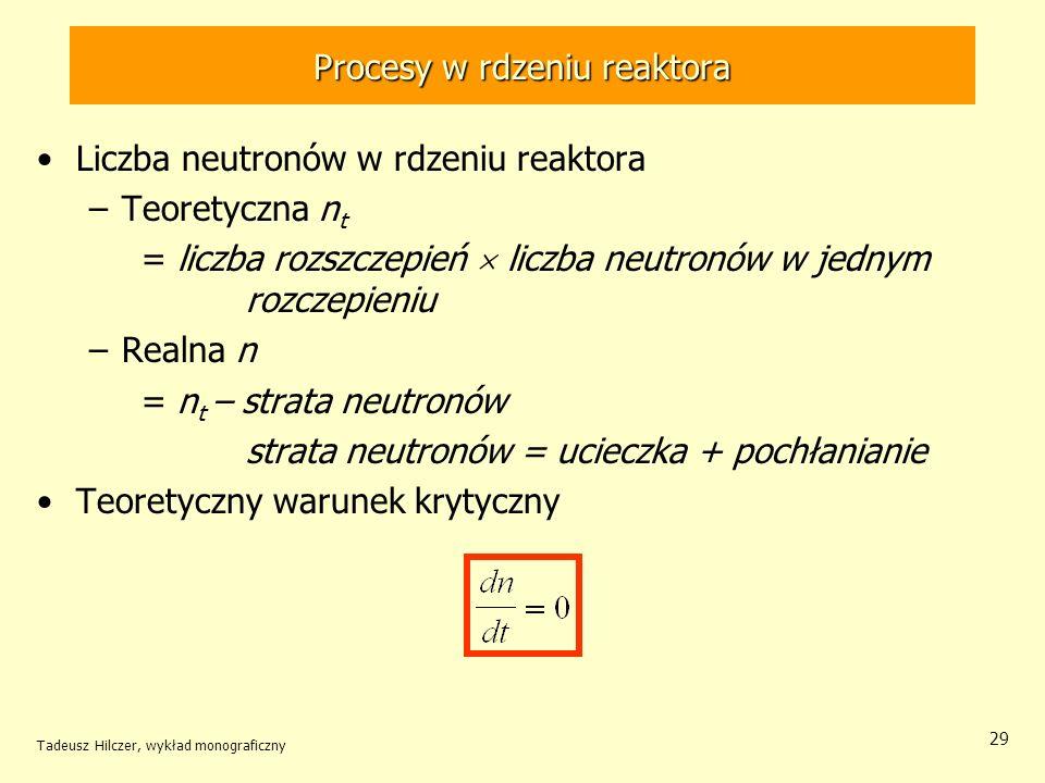 Procesy w rdzeniu reaktora